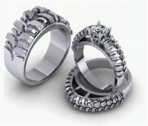 tire tread rings wedding pinterest With tire track wedding rings