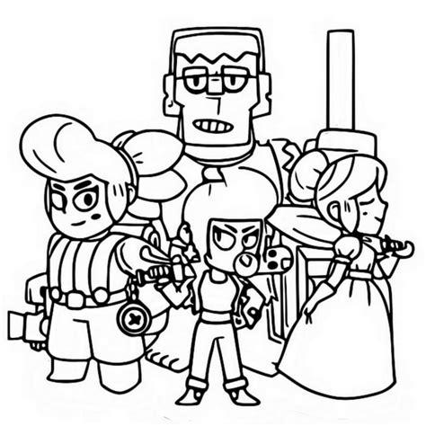 disegni da colorare dei personaggi di brawl pagine da colorare con i brawl sta gratuitamente