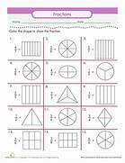 Color The Fraction Worksheet Fraction Worksheets Grade 5 ABITLIKETHIS Pictures On Fun Math Worksheets For 5th Grade 3Rd Grade Math Word Problem Worksheets ABITLIKETHIS
