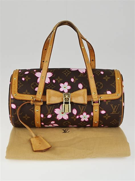 louis vuitton limited edition monogram cherry blossom papillon bag yoogis closet
