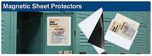 magnetic sheet protectors durable vinyl pockets full With magnetic document protectors