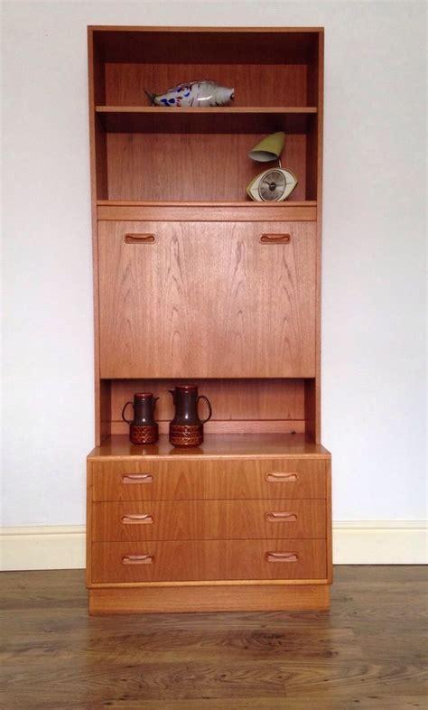 retro  plan fresco teak cocktail cabinet chest drawers