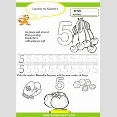 Kids Under 7 Free Printable Kindergarten Number Worksheets  ΑΡΙΘΜΟΙ  Kindergarten Math