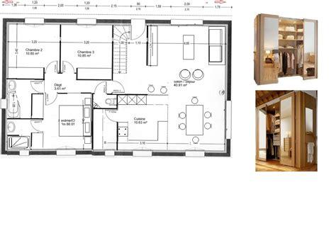 plan chambre parentale plan chambre salle de bain dressing meubles unique faades