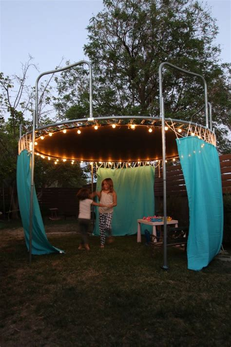 easy diy sun shade ideas   beautiful backyard backyard trampoline fun sleepover