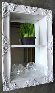 Spiegel 60 X 40 : wandregal regal badregal spiegel barock antik wei 60 x 40 landhaus sp k che ~ Bigdaddyawards.com Haus und Dekorationen