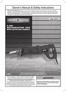 Chicago Electric Power Tools    6 Amp Reciprocating Saw