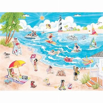 Beach Scene Create Magnetic Play Playmonster Pretend
