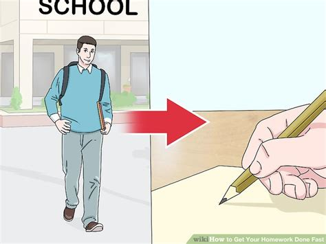 Do All Homework by 4 Easy Ways To Get Your Homework Done Fast With Pictures