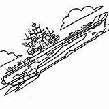 Carrier Coloring Aircraft Navy Ship Kuznetsov Class Cvn sketch template