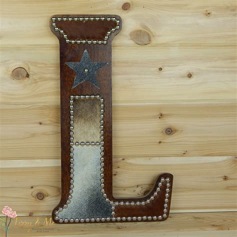 Cowhide Home Decor by Cowhide Wall Letter L Western Home Decor Wall By Lizzyandme