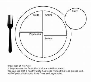 My plate worksheet for health crafts for nutrition unit for Food wheel template