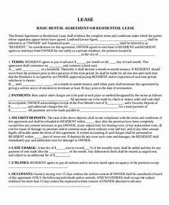 House lease template 6 free word pdf documents for Housing lease template
