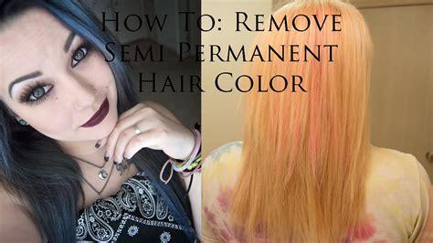 how to remove permanent hair color remove semi permanent hair color spefashion