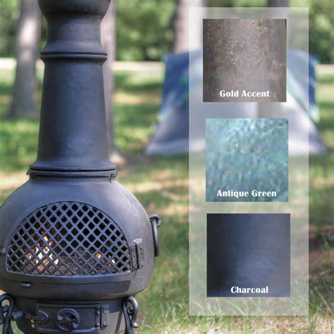 Gatsby Chiminea by Chiminea Gatsby Style Cast Aluminum Outdoor Fireplace