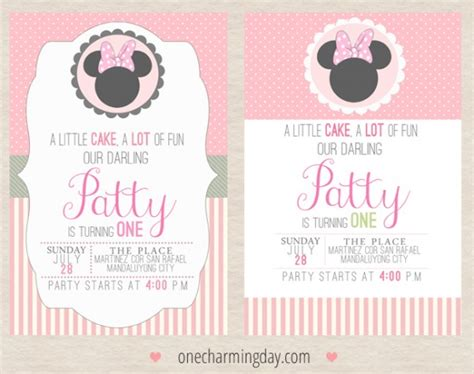 minnie mouse party printables  charming day