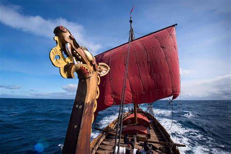 Norwegian Replica Of Viking Ship Arrives In Eastern