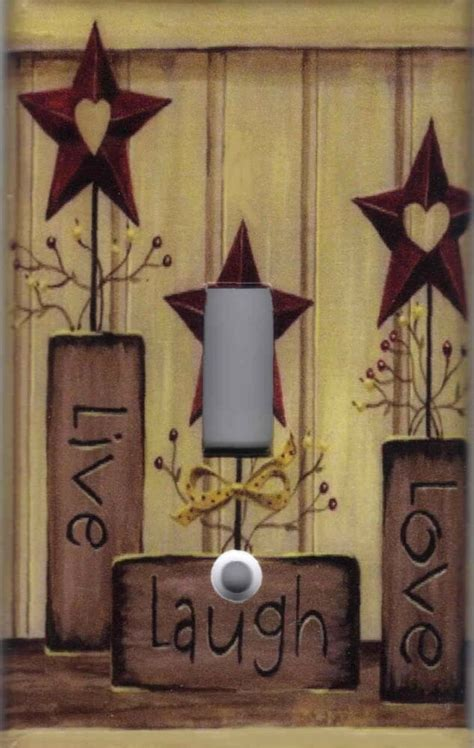 country barn star live love laugh home wall decor light