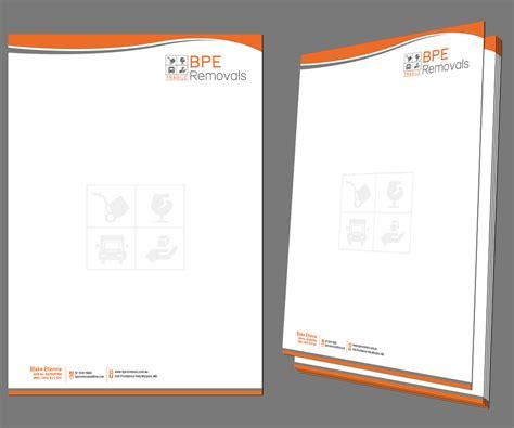business letterhead design for bpe removals by kousik design 4024379