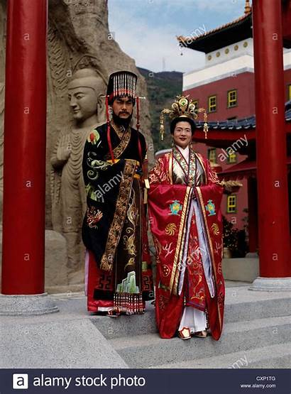 Hong Kong Traditional Chinese Kingdom Clothes Middle
