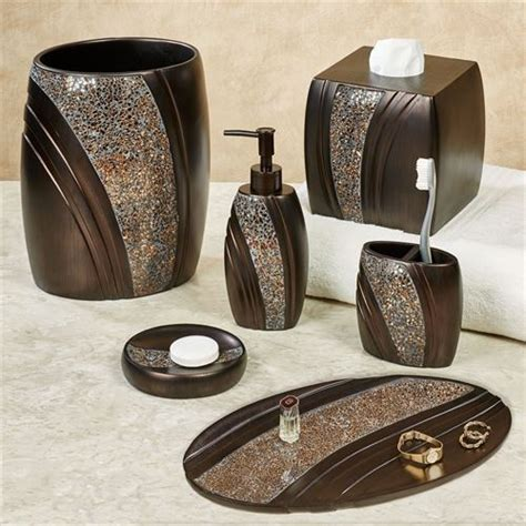 grandeur mosaic bronze bath accessories
