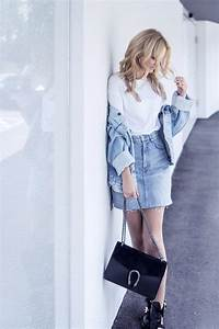 Denim outfit skirt levis vintage jacket balenciaga shoes casual ootd street style fashion tumblr ...