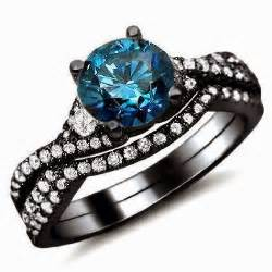 black and gold engagement rings 39 s jewelry news blue engagement ring bridal set 14k and 18k black gold