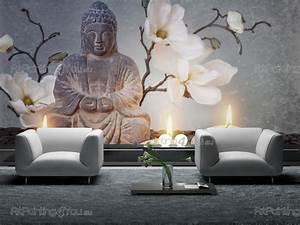 Papier Peint Action : papier peint bouddha inspirations et papier peint poster ~ Melissatoandfro.com Idées de Décoration