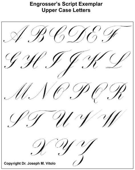script in the copperplate style engrosser s script