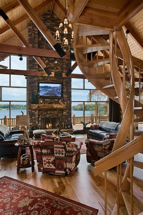 traditional style bedroom log cabin interior design 47 cabin decor ideas