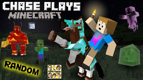 Chase Plays Minecraft! Random Gameplay W/ A 4 Year Old