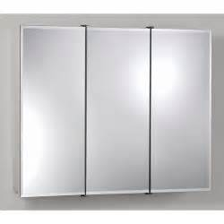 Nutone Medicine Cabinets Surface Mount Broan Nutone Ashland Tri View 36w X 28h In Surface Mount Medicine Cabinet 755288 Bathroom
