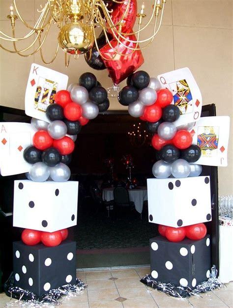 casino theme party entrance st birthday bash