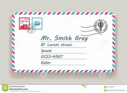 Letter Mail Postal Stamp Mailing Address Illustration