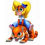 Bandicoot Coco Crash Deviantart Warped Transparent Tiger