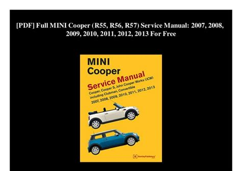 free service manuals online 2010 mini cooper electronic toll collection pdf full mini cooper r55 r56 r57 service manual 2007 2008 200