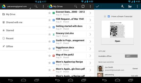 drive app android drive 1 1 592 10 for android is out