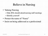 Contemporary image of professional nursing