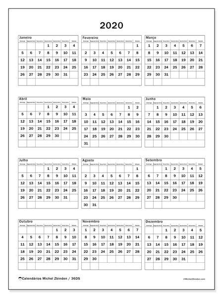 calendarios  ds michel zbinden pt
