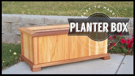 build  planter box diy easy   youtube