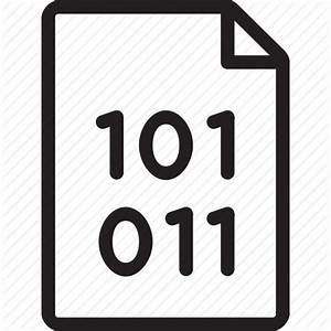 Binary, code, document, documents, file icon