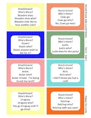 knock knock jokes lunch box notes free printable 590 | Slide3