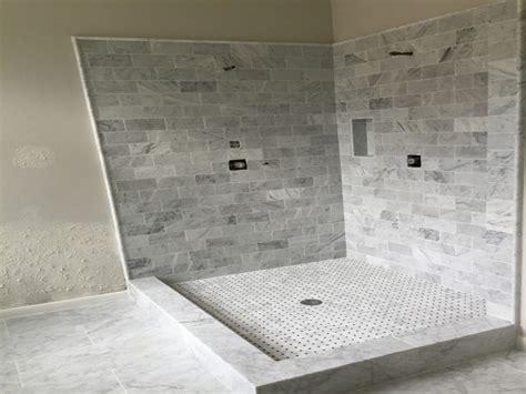 carrera marble bathroom white marble shower carrara
