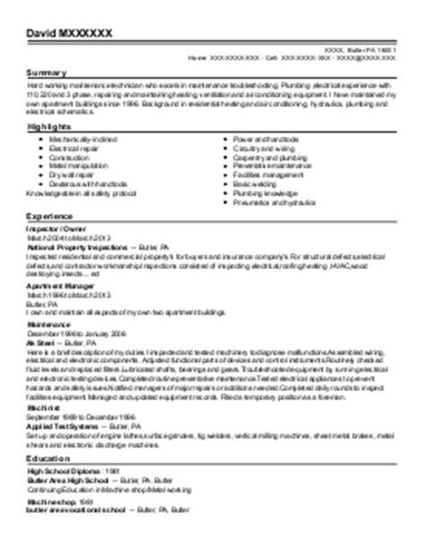 stationary engineer resume sles stationary engineer resume exle valluamerica glassport pennsylvania