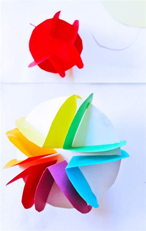 Easy Planet Craft For Kids 3d Paper Planets