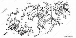 Honda Atv 2004 Oem Parts Diagram For Rear Fender  Trx500fa U0026 39 01 Fga U0026 39 04