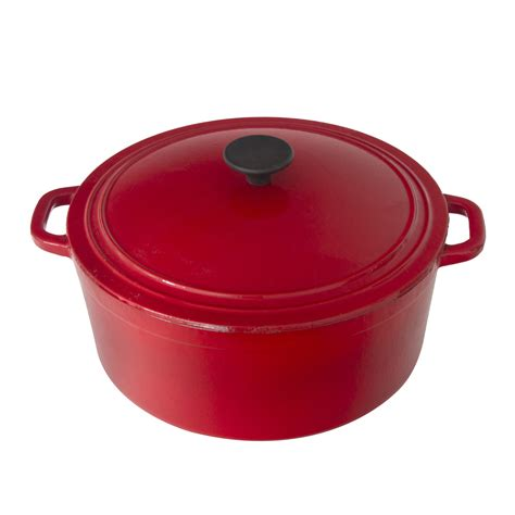 cast iron red  casserole dish  home store