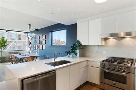 accent wall ideas for kitchen creating a warm and calm situation at home with blue accent wall
