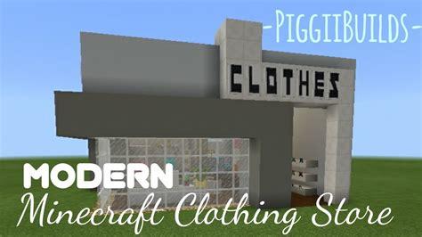 modern minecraft clothing store speedbuild piggiiplays