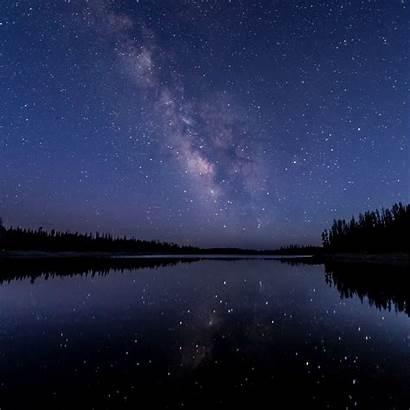 Sky Night Stars Starry Ipad Background Air